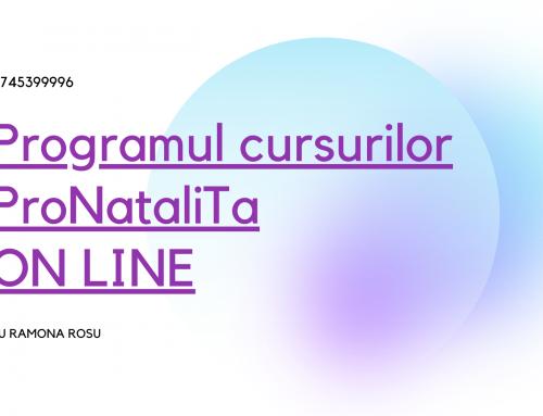 Programul cursurilor ProNataliTa ON LINE